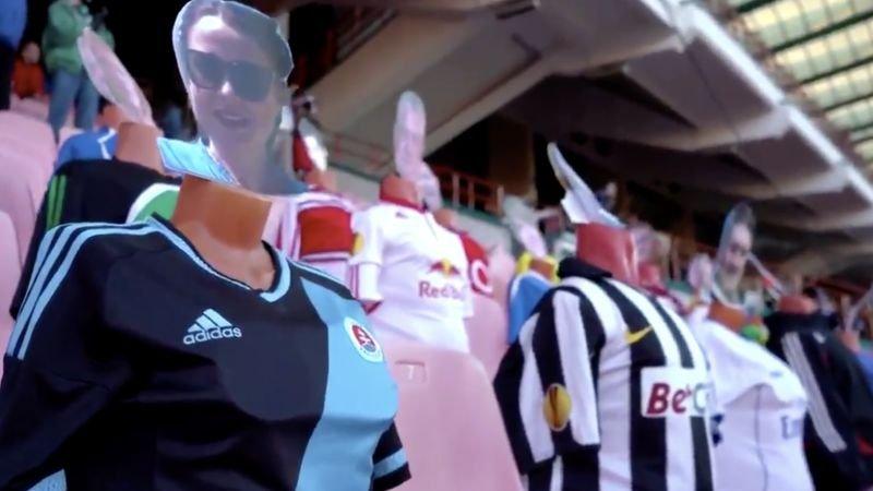 Wit-Russische club vult tribunes met zelfgemaakte poppen
