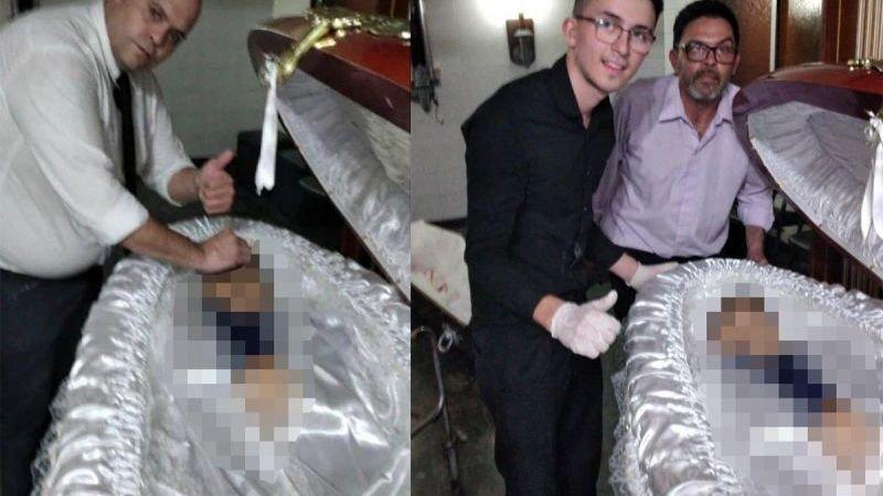 Onethische taferelen in Argentinië: begrafenismedewerkers nemen selfies met overleden Diego Maradona