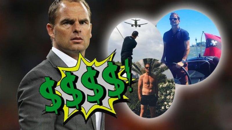 Zoveel miljoenen prijken er op de bankrekening van bondscoach Frank de Boer