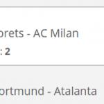 Napoli, Milan en Dortmund op winst voor 8 keer je inzet